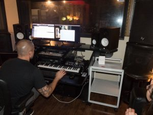 Recording new tracks for Gone Marshall's October 2018 record in Florida, USA
