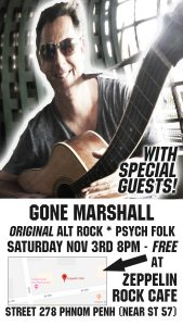 Gone Marshall plays Zeppelin Cafe - Saturday November 3rd, 8PM - 10PM