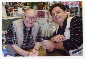 Leonard Cecere and Singer-Songwriter Gone Marshall at Lenny's shop, 'Something Special', circa 2001
