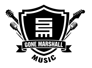 The latest musician T-Shirt from Gone Marshall prominently features a West African Nkyinkyim symbol surrounded by guitars and microphones.